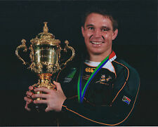 John SMIT Signed Autograph 10x8 Photo AFTAL COA RUGBY South African Legend