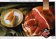 Publicité Advertising 1987 (2 pages) Le Jambon d'Aoste