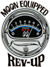 """Moon Equipped """"Rev-Up"""" Decal Sticker Adhesive on Back"""