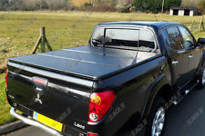 Mitsubishi L200 Long Bed 10  Hard Folding Tonneau Cover | Pickup Bed Cover | Lid