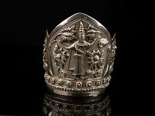 A Finely Decorated Antique Indian Silver 'Cuff' Form Bracelet.