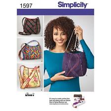 SIMPLICITY SEWING PATTERN BAGS ONE SIZE  1597