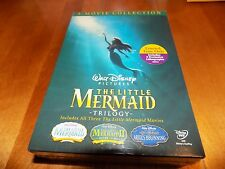THE LITTLE MERMAID TRILOGY 3Movie Collection Lithographs Walt Disney DVD SET NEW