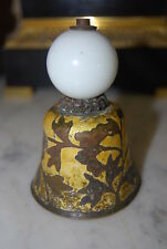 VERY OLD ANTIQUE MANDARIN HAT BELL YELLOW ENAMEL TREE PEKING GLASS FINIAL SIGNED