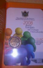 2 EUROS SAN MARINO 2008 EN CARTERA. Diálogo intercultural