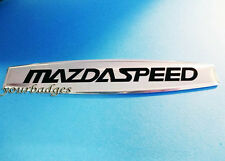 Brushed Aluminium Mazda Speed Car Badge mx5