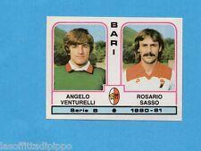 PANINI CALCIATORI 1980/81-Figurina n.332- VENTURELLI+SASSO - BARI -Rec
