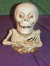 The Skeleton Skull - Antique Heavy Mechanical Bank- Vintage