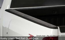Quad Caps Side Bed Rail Protectors 2007-2013 Chevy Silverado 1500 5.8ft Bed