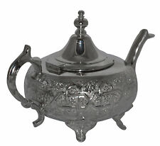 Moroccan Tea Kettle Pot With Infuser Strainer Serving Handmade Fez Large Teapot