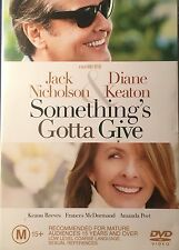 Somethings Gotta Give Jack Nicholson Diane Keaton Keannu Reeves Region 4 DVD VGC