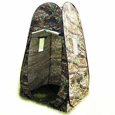 Camouflage Portable Camp Toilet Pop Up Tent Privacy Shower Changing Room w/Bag