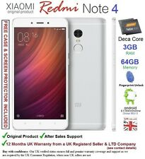 "XIAOMI REDMI NOTE 4 primo 64gb Android 6 Smartphone Dual SIM 5.5"" DECA Core UK"