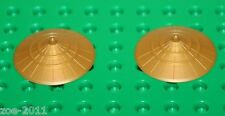 Lego 2x Ninjago Pearl Gold Hat,Conical Asian Headgear (93059) NEW!!!