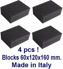Universal Scissor Lift Pads - H60 - Ramp Rubber Blocks Made in Italy REAL RUBBER