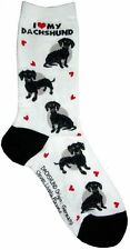 I Love My Dachshund Black (631091)Women Socks Cotton New Gift Fun Unique Fashion