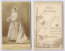 CDV Victorian Bride in Wedding Gown Carte de Visite Photo by Glass of Windsor