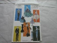 "VOGUE CRAFT Pattern #7560 Fashion 11-1/2"" Doll Clothes Barbie & Ken Uncut FF"