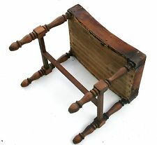 Antique Footstool Wood Stool Furniture Log Cabin Chair Mountain Home Farm Barn