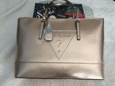 "Guess handbag Purse 17.5""X11"" Shoulder Bag Rose Gold 100% Authentic NEW$159"