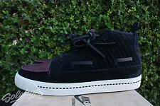 NIKE CHUKKA AINA WOVEN SZ 9.5 BLACK DEEP GARNMENT BIRCH 395806 004