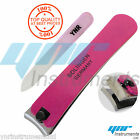 YNR Pro Thick Toe Nail Clippers Cutter Nippers Glass Nail File Manicure Set Pink