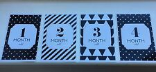 Milestone Baby Age Cards, Month By Month, Baby Shower Gift, New Baby