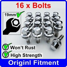 16 x ALLOY WHEEL BOLTS FOR CITROEN M12x1.25 (35MM LONG) FLAT SEAT LUG NUT [G1]