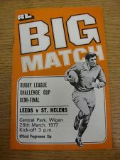 28/03/1981 Rugby League Programme: Challenge Cup Semi-Final - Warrington v Widne