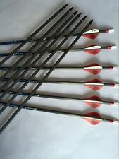 12PK 30'' Carbon Express carbon arrow with blazer vane for compound bow hunting