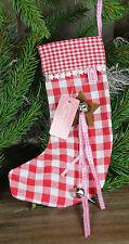 Clayre & Eef * Weihnachtsstrumpf * Nikolausstrumpf * zum füllen 14 x24 cm * Rot