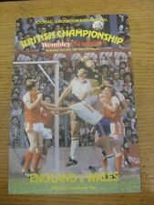 20/05/1981 Jack Wiseman Programme (higher quality paper): England v Wales [At We