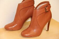 NIB Plenty by Tracy Reese ROSA Leather HEEL Ankle Boots Coconut Sz 35 5
