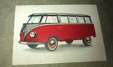 1962 VW Volkswagen KOMBI  Jacques Chocolates BELGIUM Trade Swap Card - RARE !