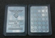 (2)  1 oz German Silver Iron Cross Bar (rare)   W/ AIR TIGHT CASE