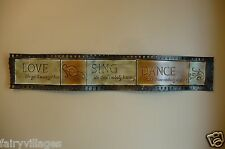 METAL MOVIE REEL HOME THEATRE DECOR RETRO  36 IN.. wall plaque sign THEATER