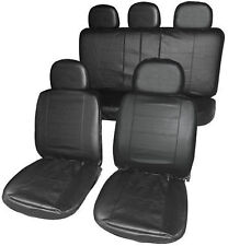 VW T5 CARAVELLE Full Set Leather Look Front + Rear Seat Covers