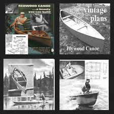 40 Vintage boat plans open Canadian sail boat rowing kayak dingy cabin boat