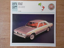 1971-1977 FIAT 130 COUPE Classic Car Photo/Information Card
