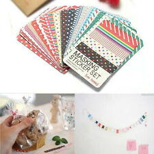 Pack of 27pcs Scrapbook Masking Tape Craft Making Stickers Decorative Labelling