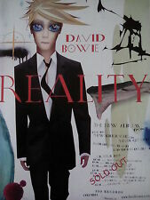 David Bowie 2003 Reality Album & Tour Advert A4ish Page from Music Book 30x21cm