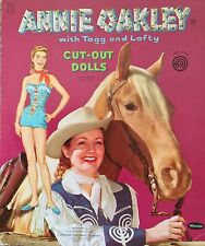 Original TV Show ANNIE OAKLEY with Tagg & Lofty Paper Dolls, 1955, Uncut