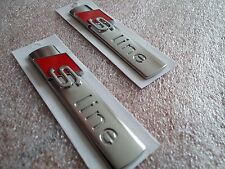 Genuine Audi S-line Badge X2 Side Wing Emblem A1 A2 A3 S3 RS3 A4 S4 RS4 A5 S5