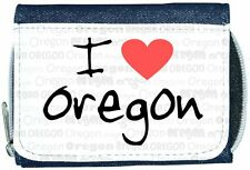 I Love Heart Oregon Denim Wallet