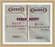 400 GMS EACH OF MORDE DARK + MILK CHOCOLATE BAR / SLAB / COMPOUND 100% VEG