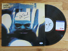 Genesis Former Lead Singer PETER GABRIEL signed SECURITY 1982 Record / Album PSA