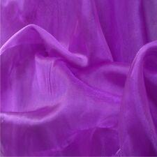 Cristal Púrpura Organza Voile Cortina Vestido De Novia Tela 150cm Ancho Libre p+p