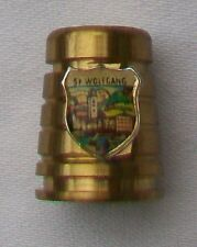 COLLECTABLE ST WOLFGANG SHIELD GOLD TONE THIMBLE