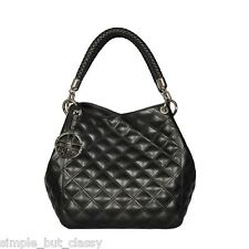 SILVIO TOSSI Quilted Leather Shoulder Bag with Keychain 25x24x21 BNWT RRP $1200