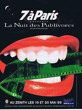 PUBLICITE ADVERTISING 045 1989 Radio Europe 2 LA NUIT DES PUBLIVORES au Zenith
